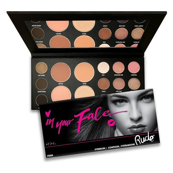 Rude Cosmetics In Your Face 3-in-1 Makeup Palette