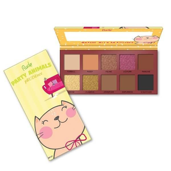 Rude Cosmetics Party Animals 10 Eyeshadow Palette - pRUDEnce