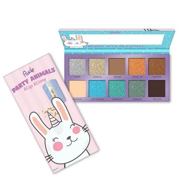 Rude Cosmetics Party Animals 10 Eyeshadow Palette - RUgs RUnny