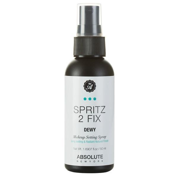 spritz 2 fix dewy makeup setting spray - absolute new york - makeup setting spray
