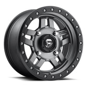 Fuel UTV Anza D558 Matte Anthracite W/Black Ring
