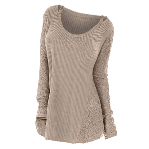 Wide Neckline Long Sleeve Pullover