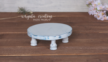 Load image into Gallery viewer, White Cake Plate, Cake Smash Stand, Handmade, Desert plate, Sturdy, Distressed Cake Plate, Ready to send