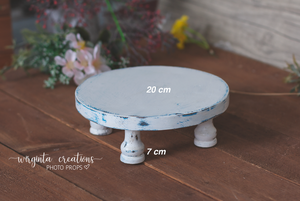 White Cake Plate, Cake Smash Stand, Handmade, Desert plate, Sturdy, Distressed Cake Plate, Ready to send
