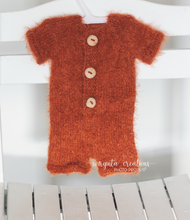 Load image into Gallery viewer, Fox set, newborn ,burnt orange, romper, bonnet, Footless, short sleeves, Ready to send
