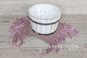 Wooden bowl, vintage style distressed bucket, newborn props,basket, baby photo prop, white, posing prop, photography props