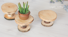 Load image into Gallery viewer, Wood Cake Plate, Birch Cake Smash Stand, Handmade, Dessert plate, Rustic Cake Plate, Ready to send