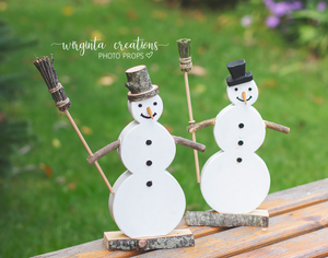 Wooden Snowman, Christmas Decoration, Mantle Decor, Photography prop, Winter, Rustic Snowman. Ready to send