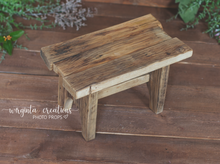 Load image into Gallery viewer, Wooden Bench Photography Prop, Sitter, Toddler, Posing prop, Sturdy, Vintage, Handcrafted, Ready to send