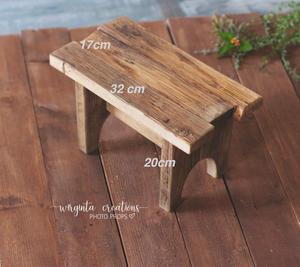 Wooden Bench Photography Prop, Sitter, Toddler, Posing prop, Sturdy, Vintage, Handcrafted, Ready to send