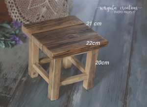 Wooden stool, bench Photography Prop, Sitter, Toddler, Posing prop, Sturdy, Vintage, Handcrafted, Ready to send