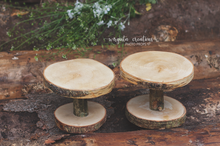 Load image into Gallery viewer, Wood Cake Plate, Birch Cake Smash Stand, Handmade, Desert plate, Rustic Cake Plate, Ready to send