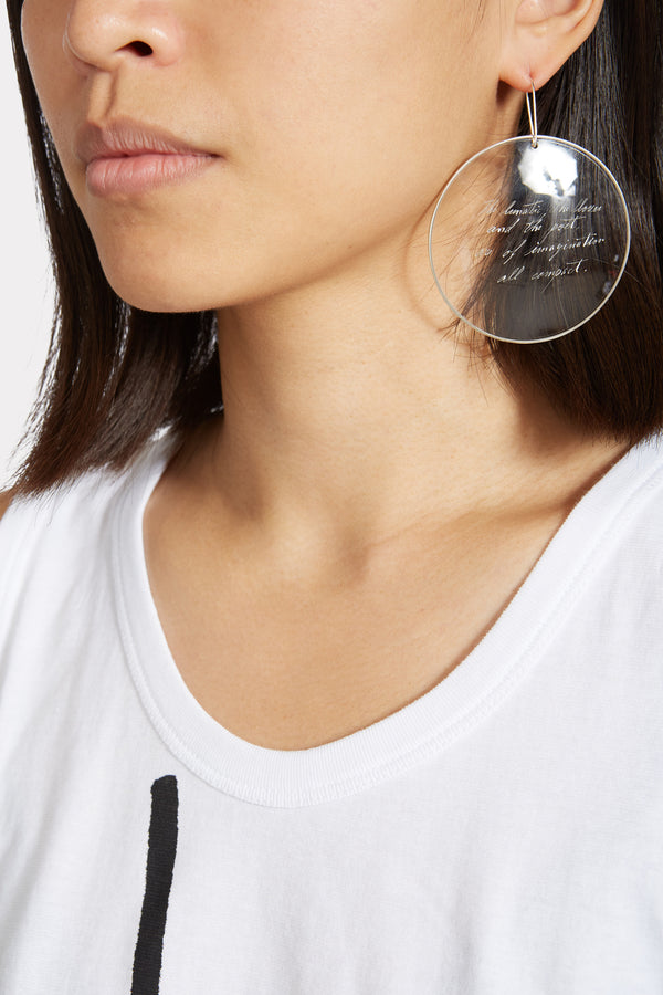 Clear message Earring