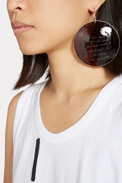 Brown Message Earring