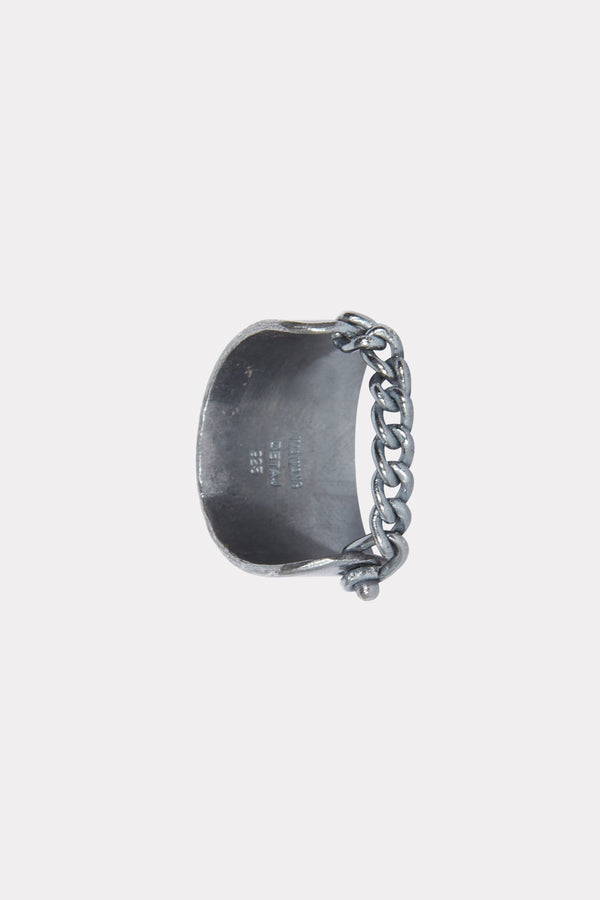 OXY DYED SILVER CHAIN RING