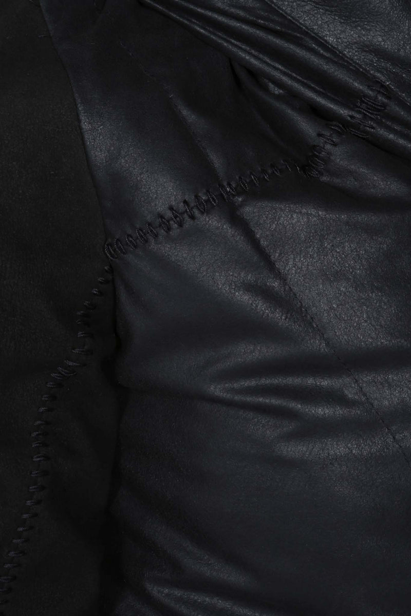 Leather Downs Jacket