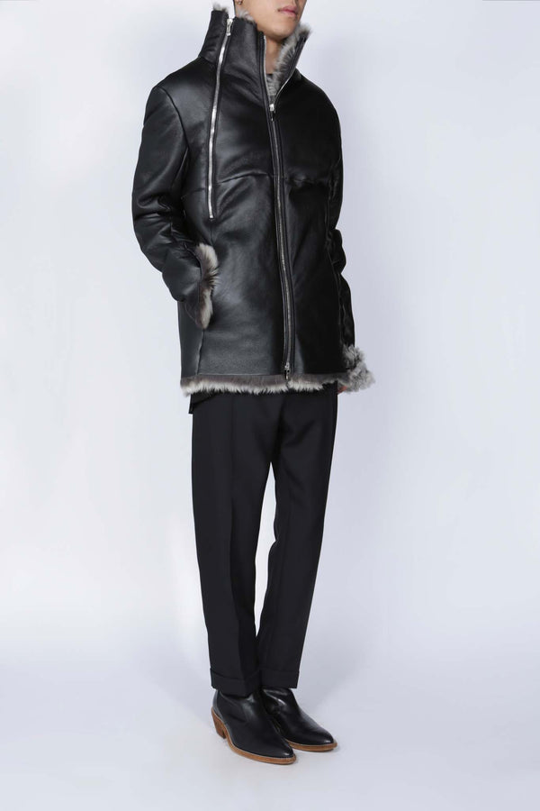 Sheep Shearling Wideneck Jacket