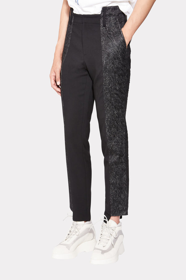 Contrasting Panels Trousers