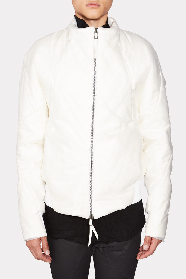 Down Lining Distortion Bomber Jacket