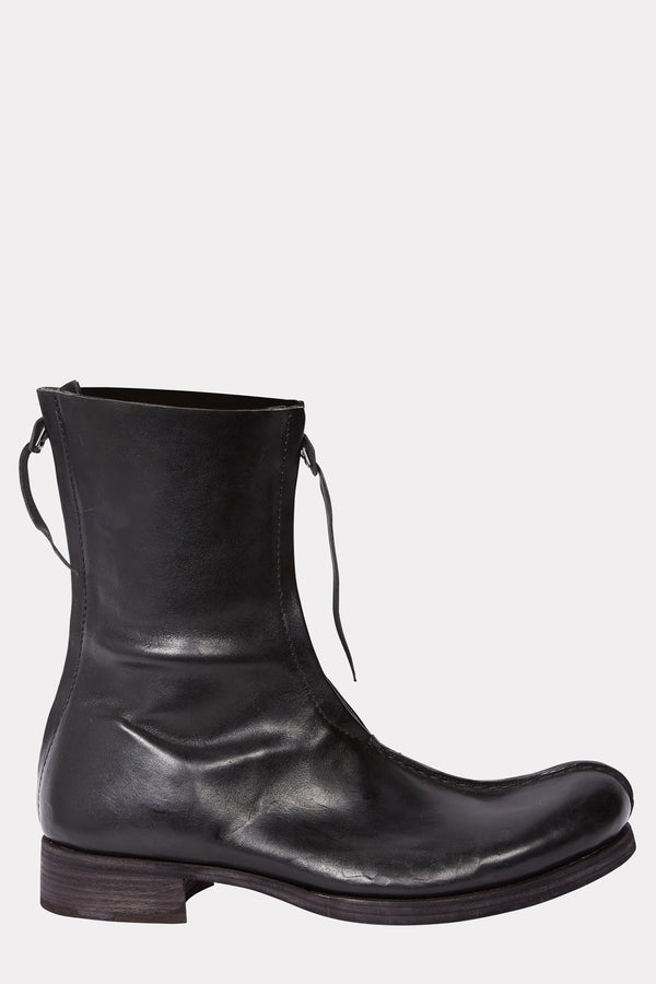 Black Back and front zipped boots