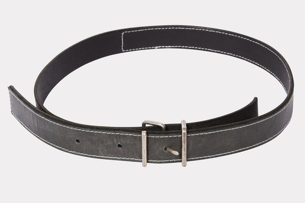 Nero Black Spiral Buckle Belt