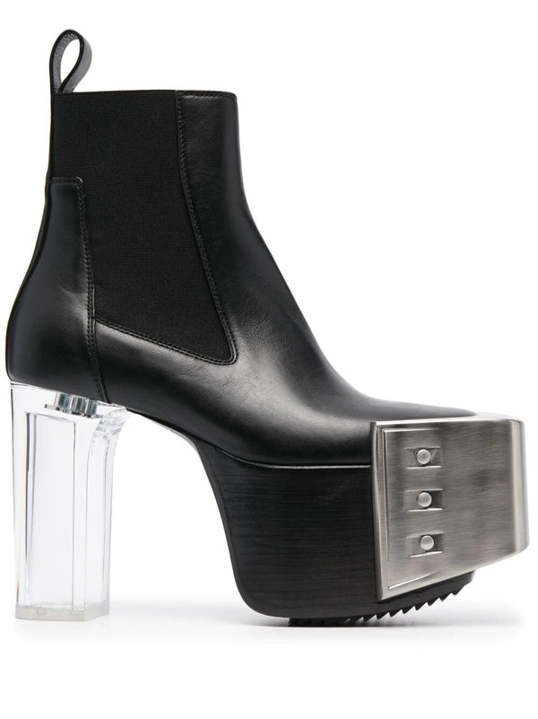 Beveled Leather Boots