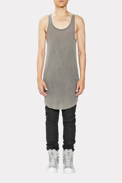 ACID GREY FITTED TANK TOP