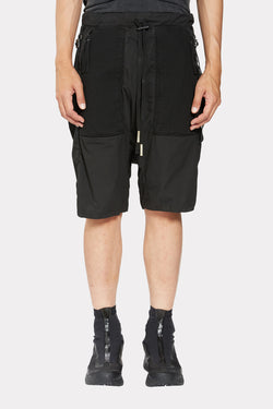 BLACK DOUBLE OBJECT DYED PANTS