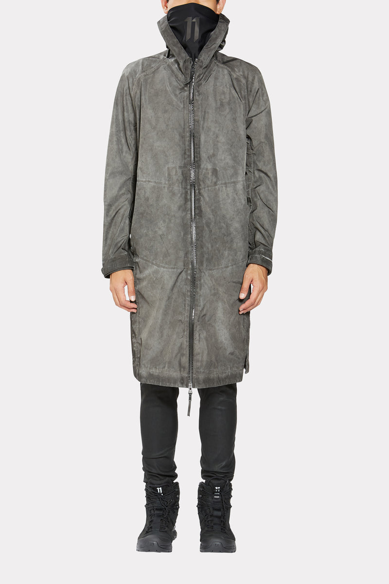 DIRTY GREY COLD DYE RAINCOAT