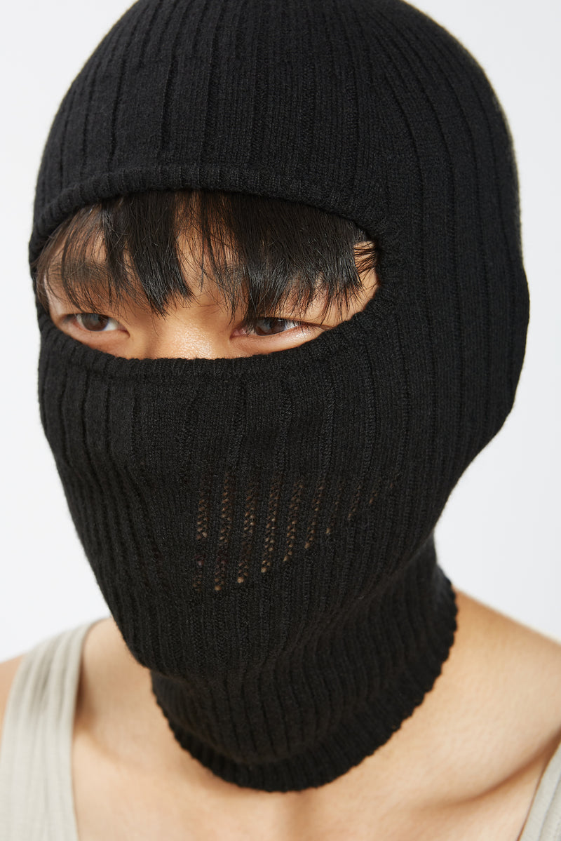 KNITTED BALAKLAVA HEAD