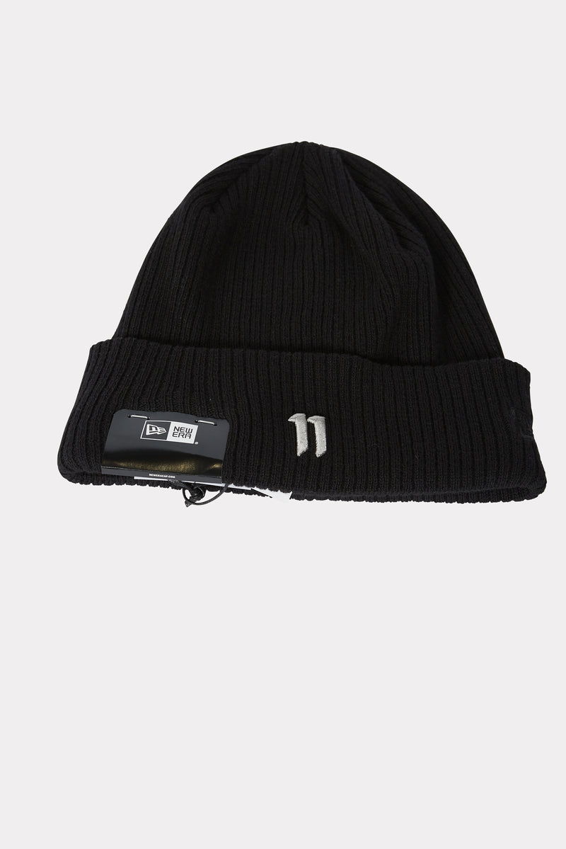 BLACK / LIGHT GREY 11 LOGO BEANIE