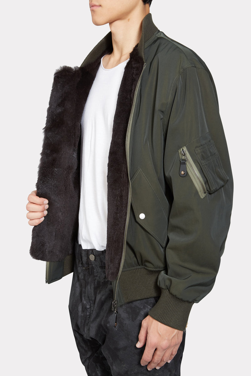 Miltary Rabbit Fur Jacket