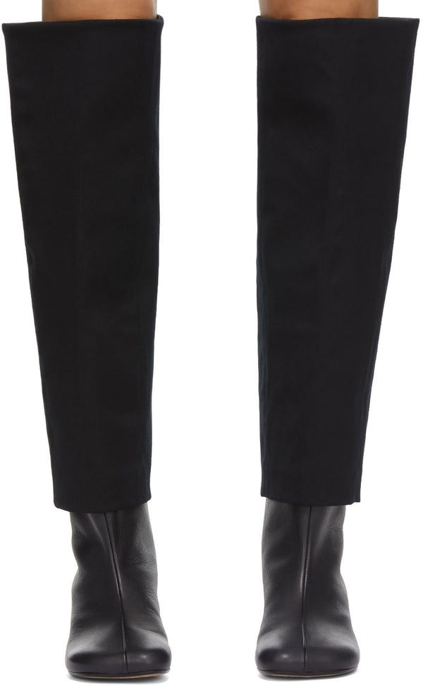 Black Suiting Top Boots