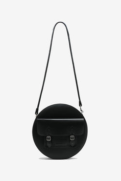 Black circle satchel bag