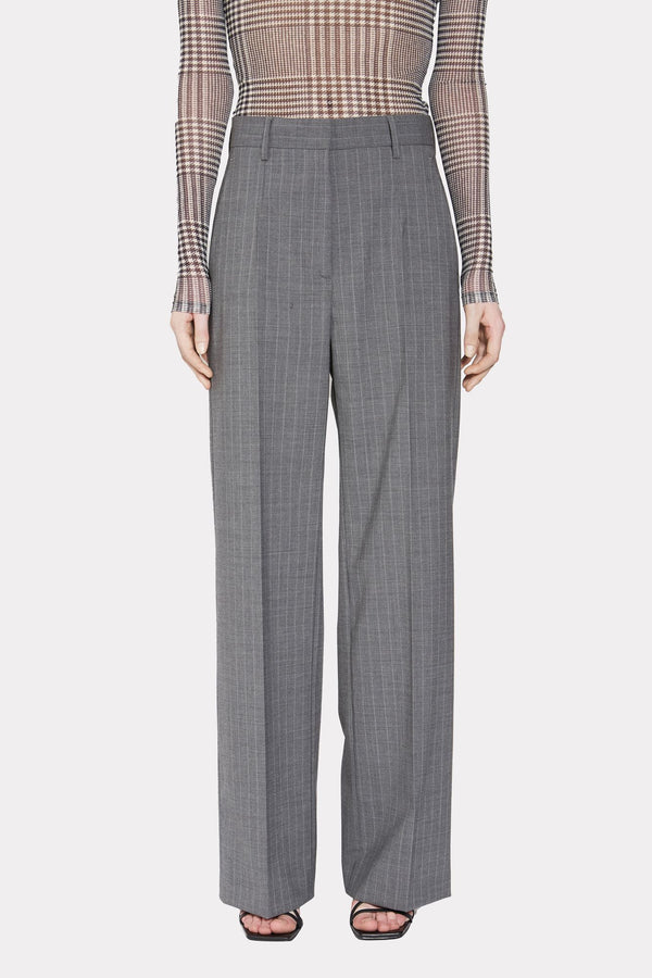STRIPED STRAIGHT-LEG TROUSERS