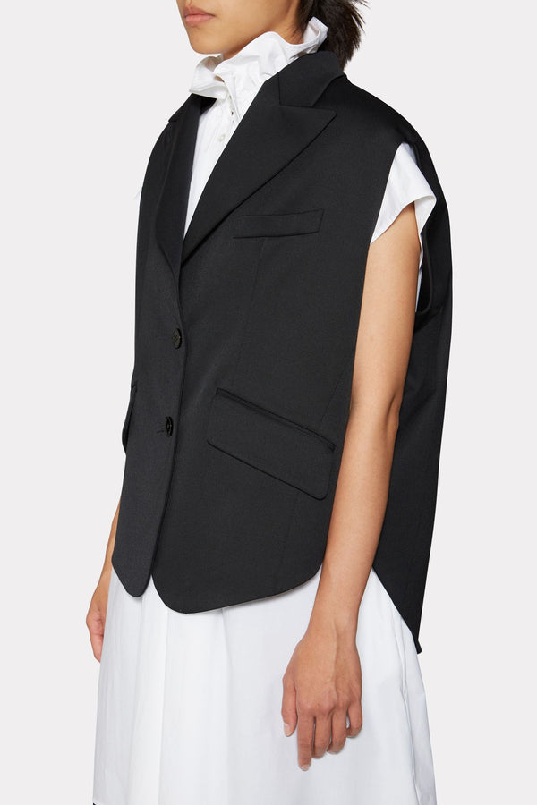 Circle Sleeveless Blazer