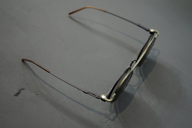 BLACK/CLEAR Sunglasses with OLIVE/SUN CLIP