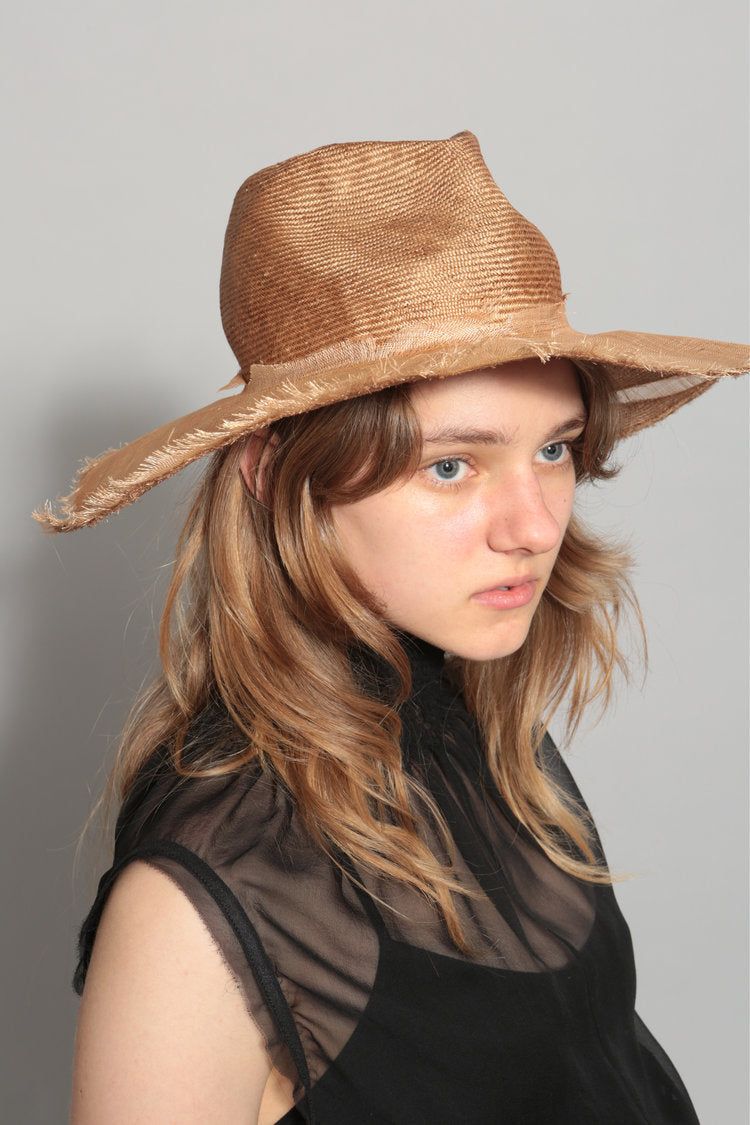 Distressed Straw Hat