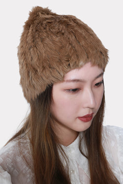 MADELEINE KNITTED RABBIT STRETCH BEANIE HAT