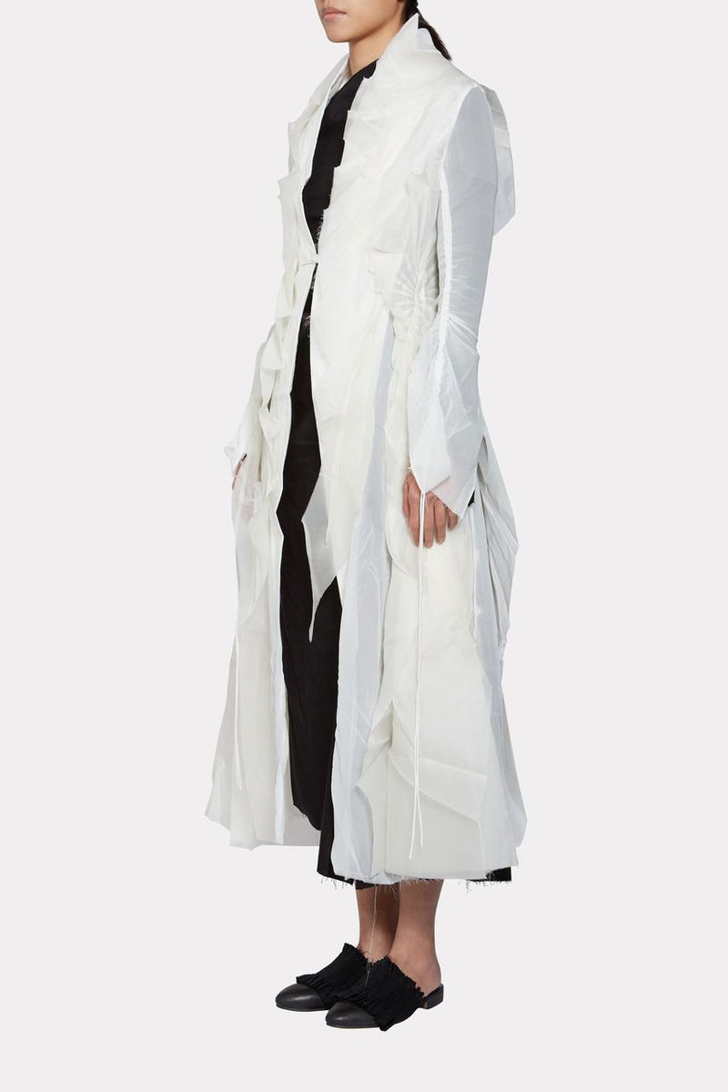White Silk Coat