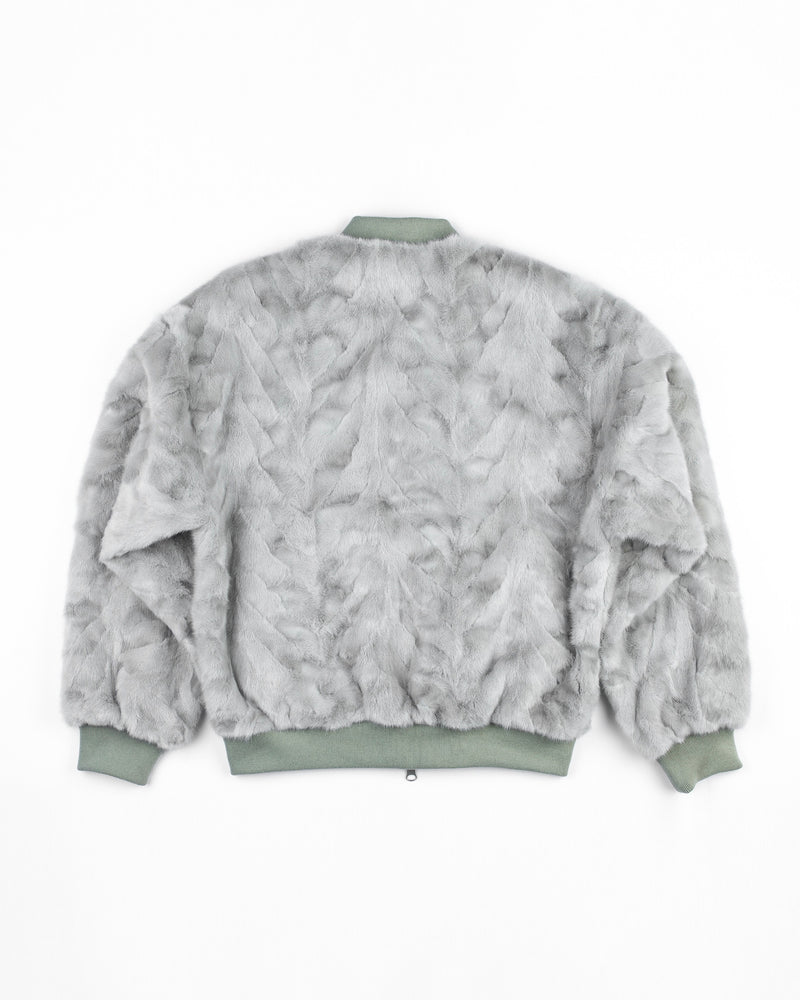 UNISEX REVERSIBLE MINK FUR BOMBER - 2021 GREY