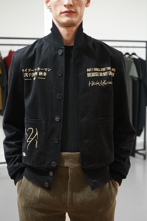 Embroidered Aviator Jacket