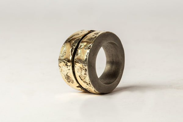 Crevice Ring V2 WIDE 18K GOLD