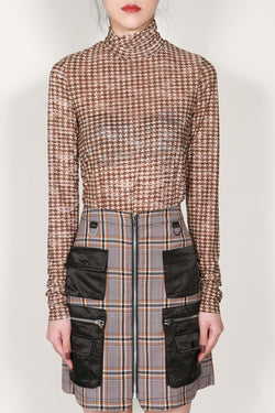 Houndstooth Span Turtleneck Sweater