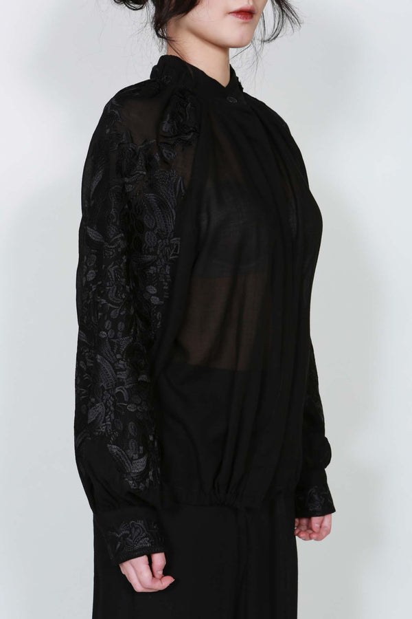 Black Top Tiriel with Embroidery