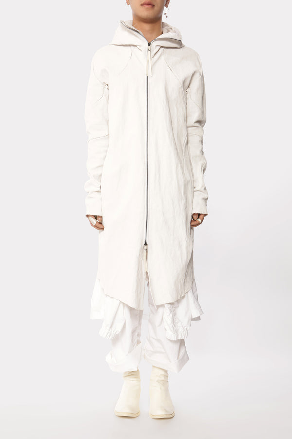White Forced Parka