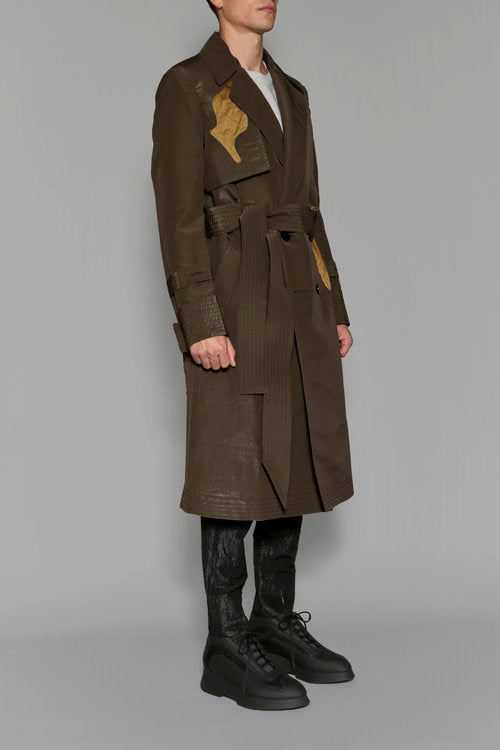 Metali Khaki Trench Coat