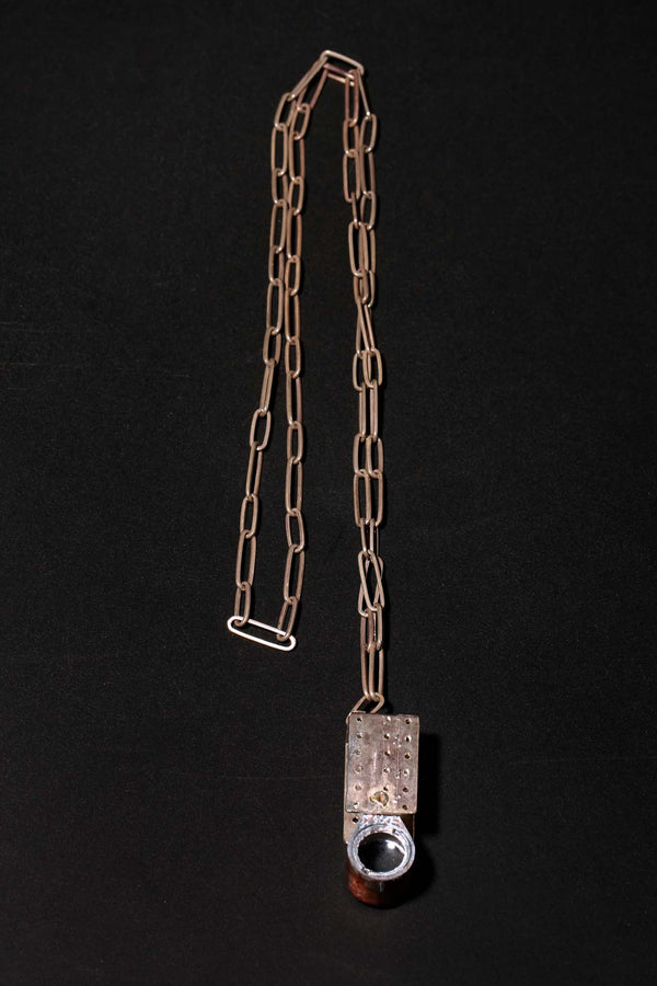 Loupe Necklace W/Silver Chain