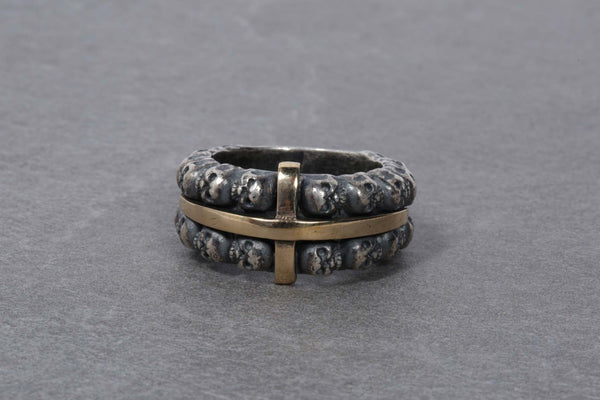 Narrow Multiple Skull Ring