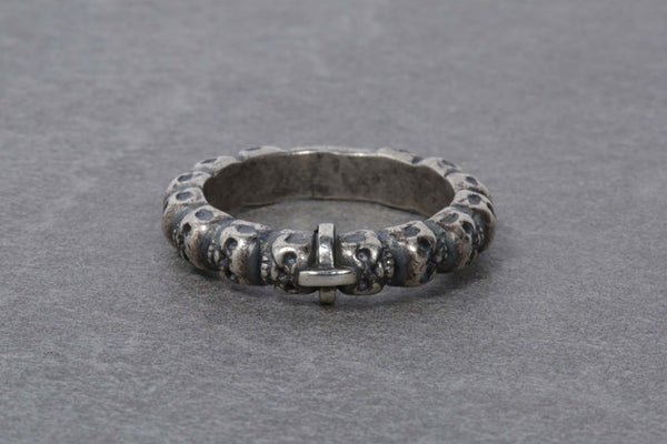 Single Multiple Skulls Cross Ring